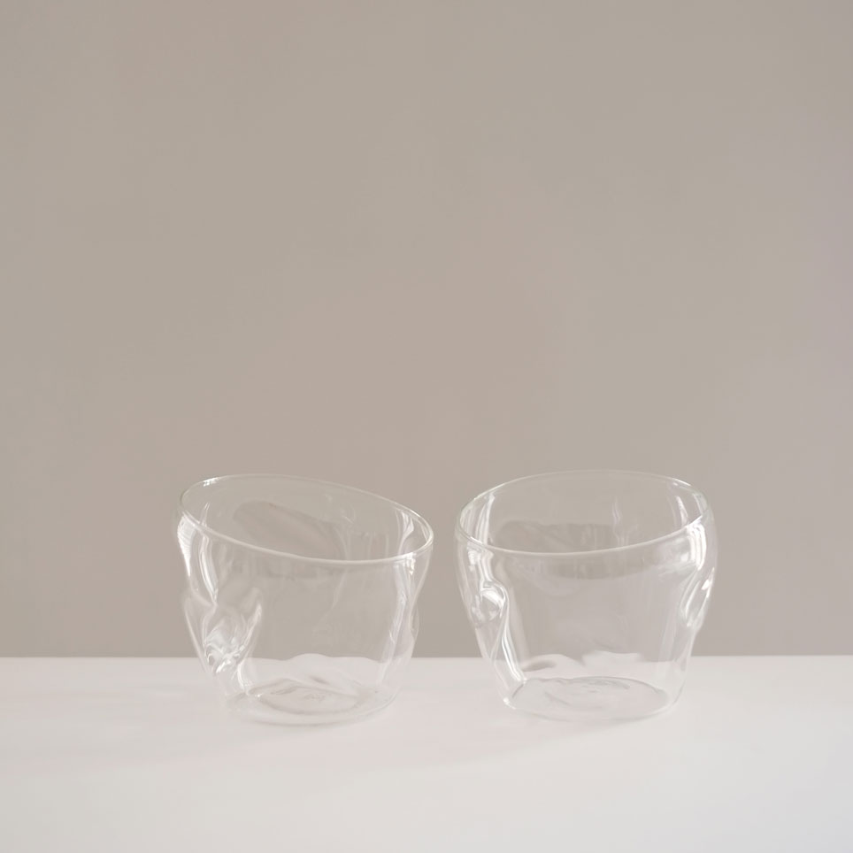 PAIR CLEAR INDENT GLASSES