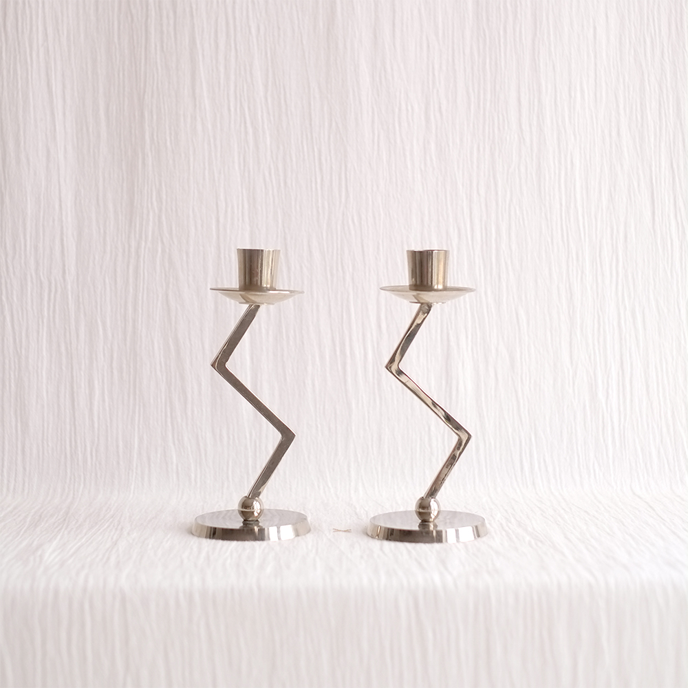 ZIG ZAG CANDLE HOLDERS