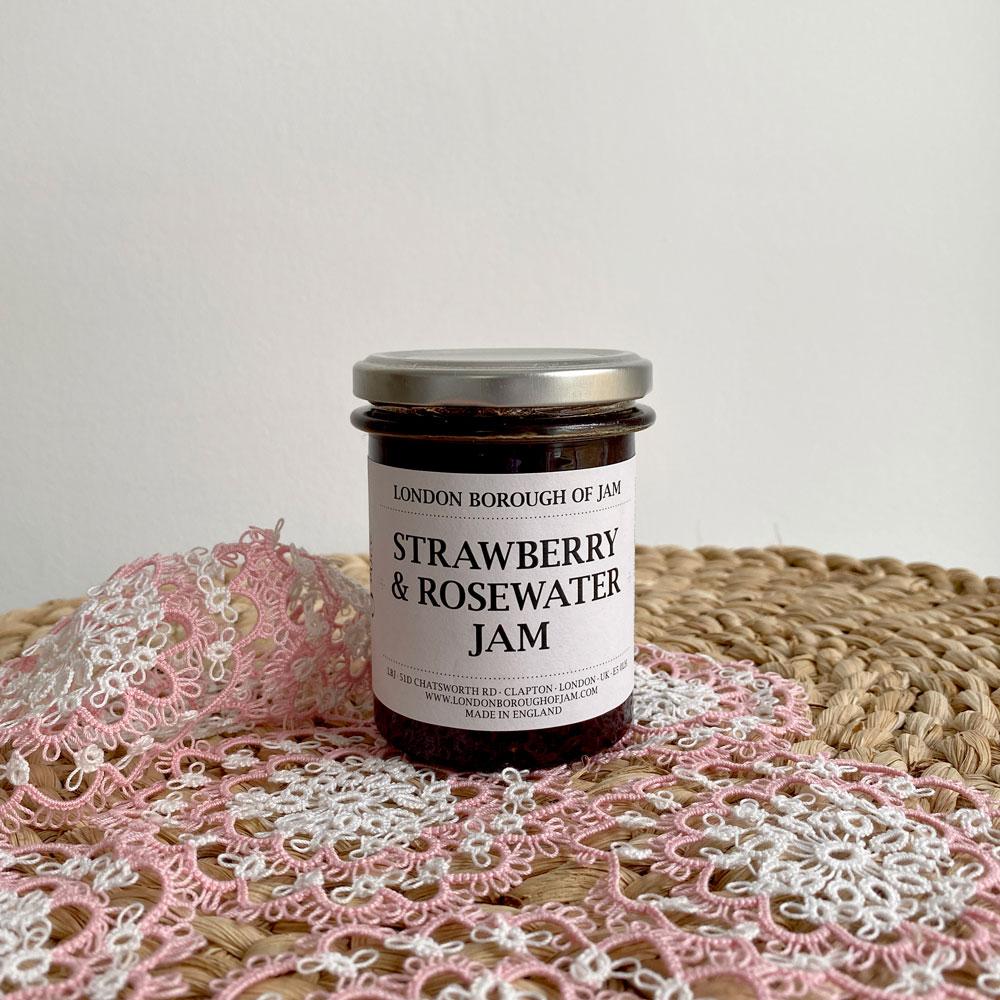 STRAWBERRY & ROSEWATER JAM