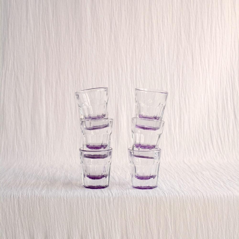 SET 6 PURPLE SHOT GLASSES