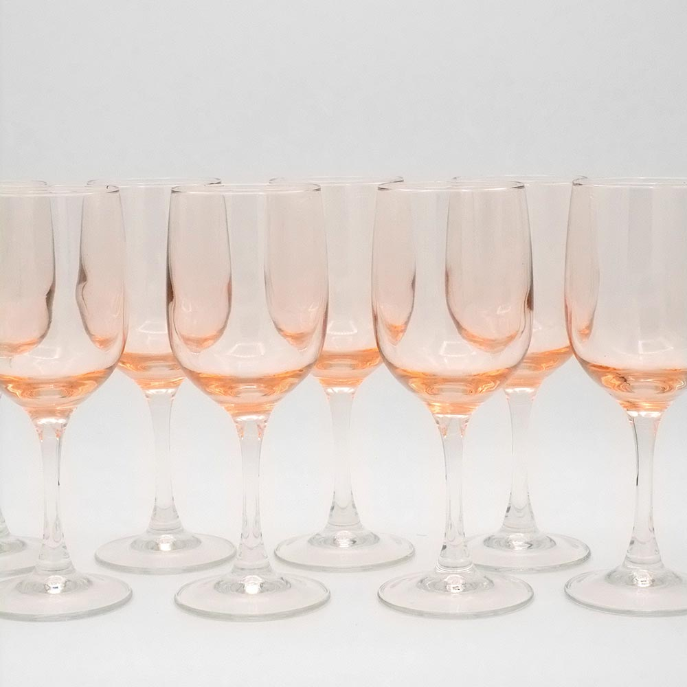EIGHT PINK TINTED  GLASSES
