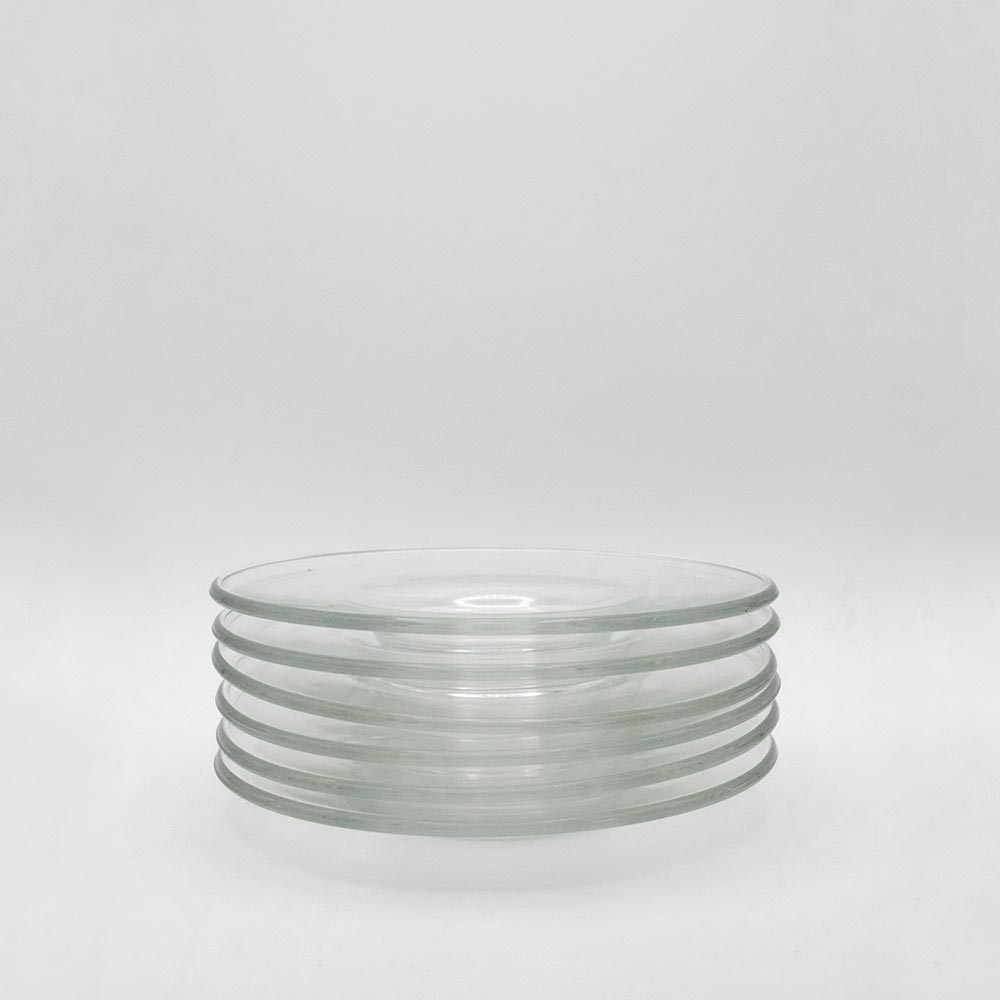 SET OF SIX GLASS SIDE DISHES