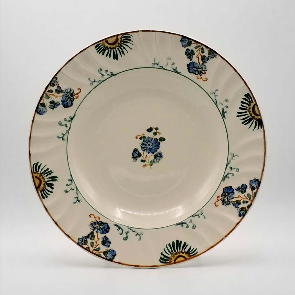 SET OF FOUR DECORATIVE HAND PAINTED PLATES
